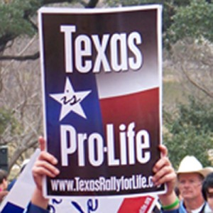 Texas is Pro-Life sign thumbnail (square)