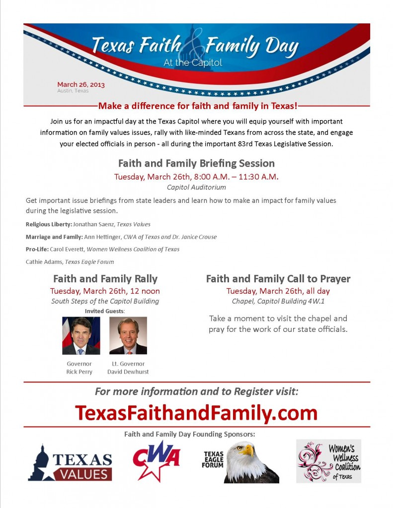 FaithandFamily flyer