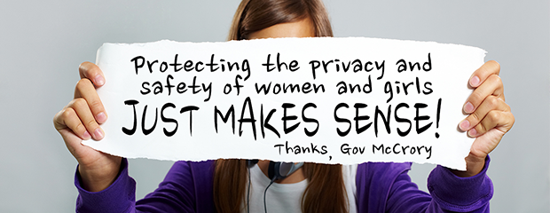 Protecting privacy and safety of women and girls sign (620-240)